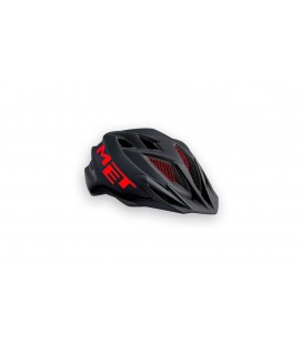 CASCO MET CRACKERJACK NEGRO ROJO