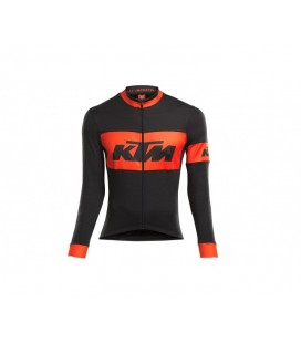MAILLOT LARGO KTM FACTORY TEAM RACE ALL SEASON NEGRO/NARANJA