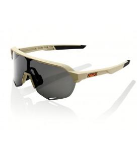 Gafas 100% S2 Soft Tact gris lente ahumada negro