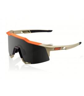 Gafas 100% Speedcraft Soft Tact gris naranja lente ahumada negro