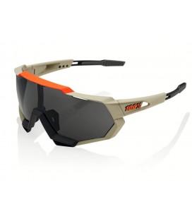 Gafas 100% Speedtrap Soft Tact gris naranja lente ahumada negro