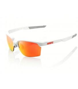 Gafas 100% Sportcoupe blanco lente Multilayer rojo