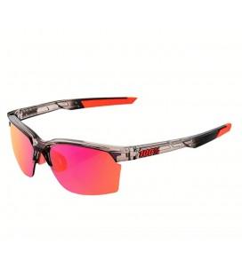 Gafas 100% Sportcoupe lente espejada multicapa rosa gris