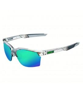 Gafas 100% Sportcoupe lente espejada multicapa azul gris translúcido