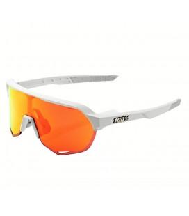 Gafas 100% S2 lente espejada multicapa hiper blanco mate naranja