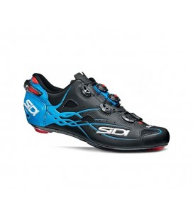 ZAPATILLAS SIDI SHOT CARBONO NEGRO MATE/AZUL